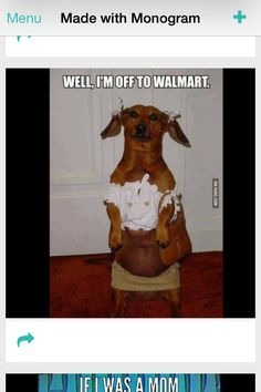 Well I'm off to walmart