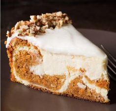 Carrot Cake Cheesecake Is An Absolute Show Stopper