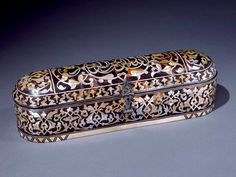 18th century tortoise and mother of pearl - pencil box