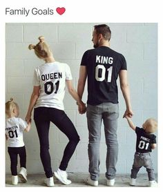 Adorable family pic! How cute would it be to have a tee saying Prince 02 between the couple!