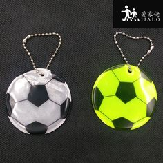 FOOTBALL Reflective bag pendant accessories, Reflective keychain reflective keyrings for visible safety