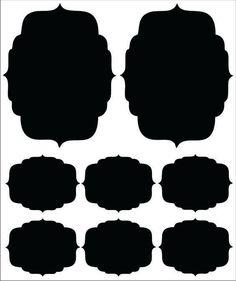 Set of 8 Vintage Black Chalk Board Labels by nicknacksbynicola, $15.00