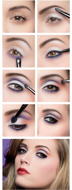 Purple Dream Makeup for Small Lids
