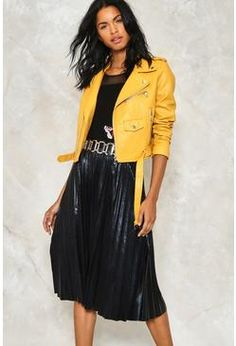 Wet's the Idea Pleated Skirt