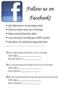 facebook photo release form parents
