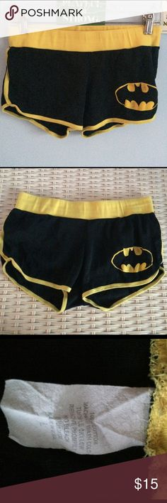 "BATMAN BOOTY SHORTS  Batman symbol on right side and ""BATMAN"" on backside Batman Shorts"