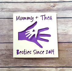 Personalised Mothers Day Card, Mummy Card, 1st Mother's Day, Besties, Happy Mother's Day, Mummy Birthday, Card from Baby, Lasercut, Cute Card, Besties Since