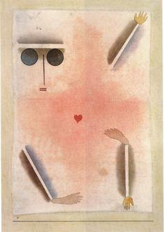 Paul Klee - Ayant tête, mains, pieds et coeur, 1930