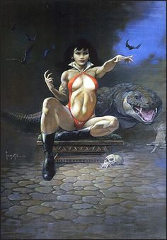 Taken directly from the original 1996 oil painting, this print displays a sharp, vivid image with a high degree of color accuracy on premium heavy textured fine art paper the mimics the effect of  archival gloss canvas. Produced by the Frazetta family.