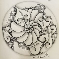 Zentangle made by me 22-01-2018