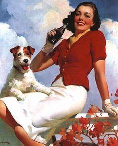 Vintage Coke illustration