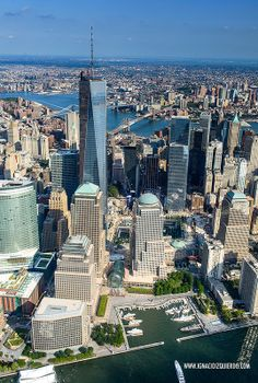 NYC. Helicopter Ride over World Financial and  World Trade Center