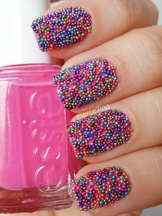 Marce7ina's Nai7 Art: caviar nails