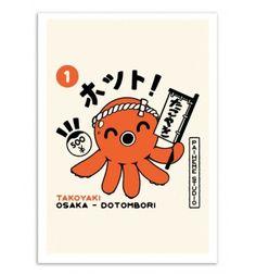 Illustrations Pop, Retro Illustration, Advertisement Template, Takoyaki, Retro Cartoons, Manga, Decoration, Pop Art, Studio