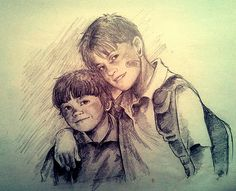 Sam and Dean as kids. from http://petite-madame.tumblr.com/