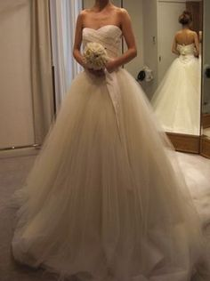 Pity its strapless Wedding Bride, Wedding Gowns, Dream Wedding, Wedding Ideas, Disney Princess Dresses, Vera Wang Dress, Pin On, Evening Dresses, Formal Dresses