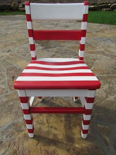Hand painted children's chair - accent chair to Dr. Suess table/chairs project Shopdog Furniture