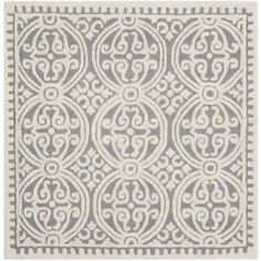 Safavieh Cambridge Leslie Hand-Tufted Wool Area Rug, Silver