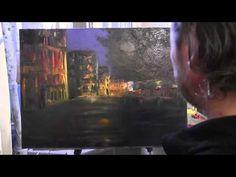 Город в розовых тонах, уроки рисования и живописи, Сахаров Игорь - YouTube