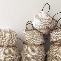 Ziggy White | Seagrass BELLY BASKETS | Home Decor + Storage Basket | dosombre.com