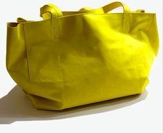 Yellow Gidina Shopper Bag JDK made in italy
