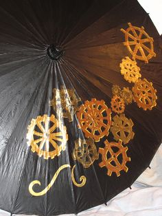 Rock On! Steampunk parasol!