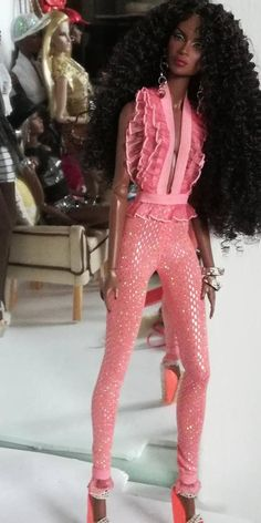 12 inch fashion doll bodysuit is one size fits all same doll. 12 inch fashion doll bodysuit is one size fits all same doll. Barbie Fashionista Dolls, Diva Dolls, Fashion Royalty Dolls, Fashion Dolls, Fashion Outfits, Stylish Street Style, African American Beauty, Beautiful Barbie Dolls, Bodysuit Fashion