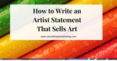 Discover what an artist statement is and how to write one so you can start building a prosperous art business. Selling Art Online, Art Tips, Online Art Gallery, Inspire Me, Writing, Learning, Business, Building, Andy Warhol