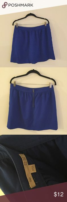 "Gap Zip Back Skater Skirt Royal blue skater skirt with a pin tucked waistband and functional zip back. 16 1/2"" long, 15 1/2"" waist. EUC GAP Skirts Circle & Skater"