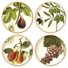 Botanical Fruit Salad Plates
