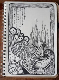 Feeling Festive... doodle by heart!