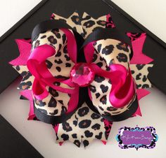 Pink And Tan Leopard Ott Boutique Bow