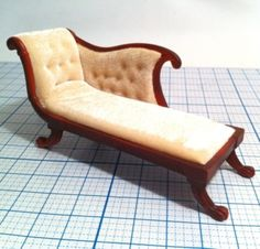 Dollhouse Chaise Lounge Sofa Couch Victorian Furniture
