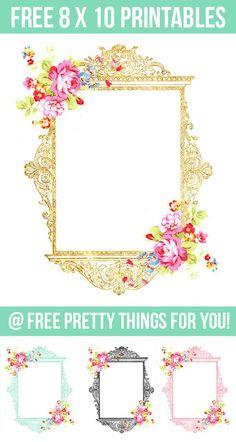 Free 8 x 10 Art Prints: Gold, Blue, Black and Pink Printables