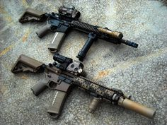 M4 Sopmod Block II clones, issued to SF, and part of the new M4 upgrade program