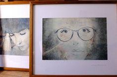 Retratos digitales en formato mediano con marco. Venta de arte. La Plata