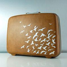 suitcase | ITEM Vintage caramel brown Suitcase - Hard sided Samsonite - Carry on ...