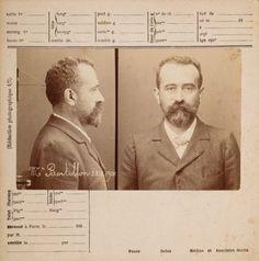 Alphonse Bertillon Autoportrait, Cliché face et profil, 1900