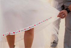 Fita para o vestido de noiva