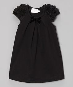 Another great find on #zulily! Black Angel-Sleeve Dress - Toddler & Girls #zulilyfinds