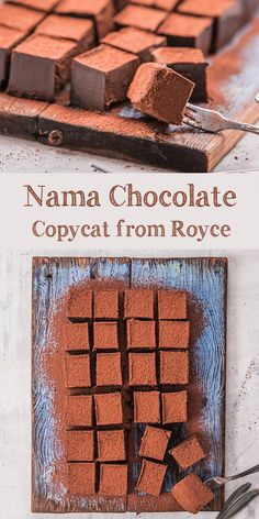 This Nama Chocolate recipe is homemade and copycat from the famous Royce Nama Chocolate. It& also halal and kosher because no alcohol added. Mini Desserts, Just Desserts, Delicious Desserts, Yummy Food, Japanese Desserts, Japanese Recipes, Healthy Food, Candy Recipes, Sweet Recipes