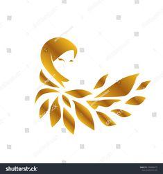 muslimah logo for hijab or scarf fashion product with gold colour, muslimah has mean great women with multi talent Logo D'art, Hijab Logo, Digital Art Beginner, Hijab Drawing, Hijab Cartoon, Crown Logo, Beauty Logo, Fashion Design Sketches, Gold Logo