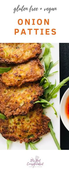 recipes healthy gluten free Onion Patties - Vegan and Gluten Free Onion Patties - Vegan and Gluten Free - It& Not Complicated Recipes Side Dish Recipes, Gourmet Recipes, Cooking Recipes, Healthy Recipes, Cooking Food, Fall Recipes, Side Dishes, Vegan Appetizers, Appetizer Recipes