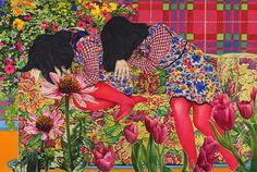 Wonderfully detailed paintings by Japanese artist Naomi Okubo. More images of Okubo's work below! Naomi Okubo's Website Art And Illustration, Illustrations, Painting Inspiration, Art Inspo, Art Chinois, Detailed Paintings, Art Japonais, A Level Art, Japanese Artists