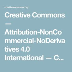 Creative Commons — Reconeixement-NoComercial-CompartirIgual Internacional — CC BY-NC-SA How To Plan, Nc, Creative
