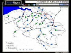 De rivieren en kanalen van België ,topografie van de belangrijkste waterwegen in Vlaanderen - YouTube