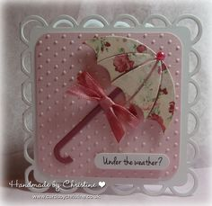 Hi Peeps   Just a quickie from me today... I bought this MFT Die-namics Umbrella die at the Harrogate show... (yes, I'm slowly working my...