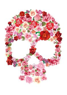 flowers and #skulls