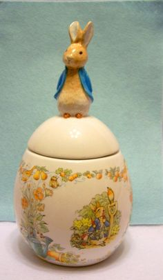 Peter Rabbit cookie jar - would have to have chocolate in this jar!