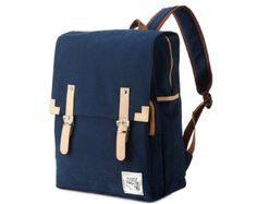 Simple cotton Square Backpack Mustard by BagDoRi on Etsy